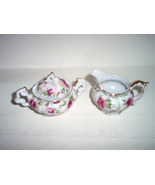 LEFTON 'ROSE CHINTZ' MINI CREAMER/SUGAR - $12.00