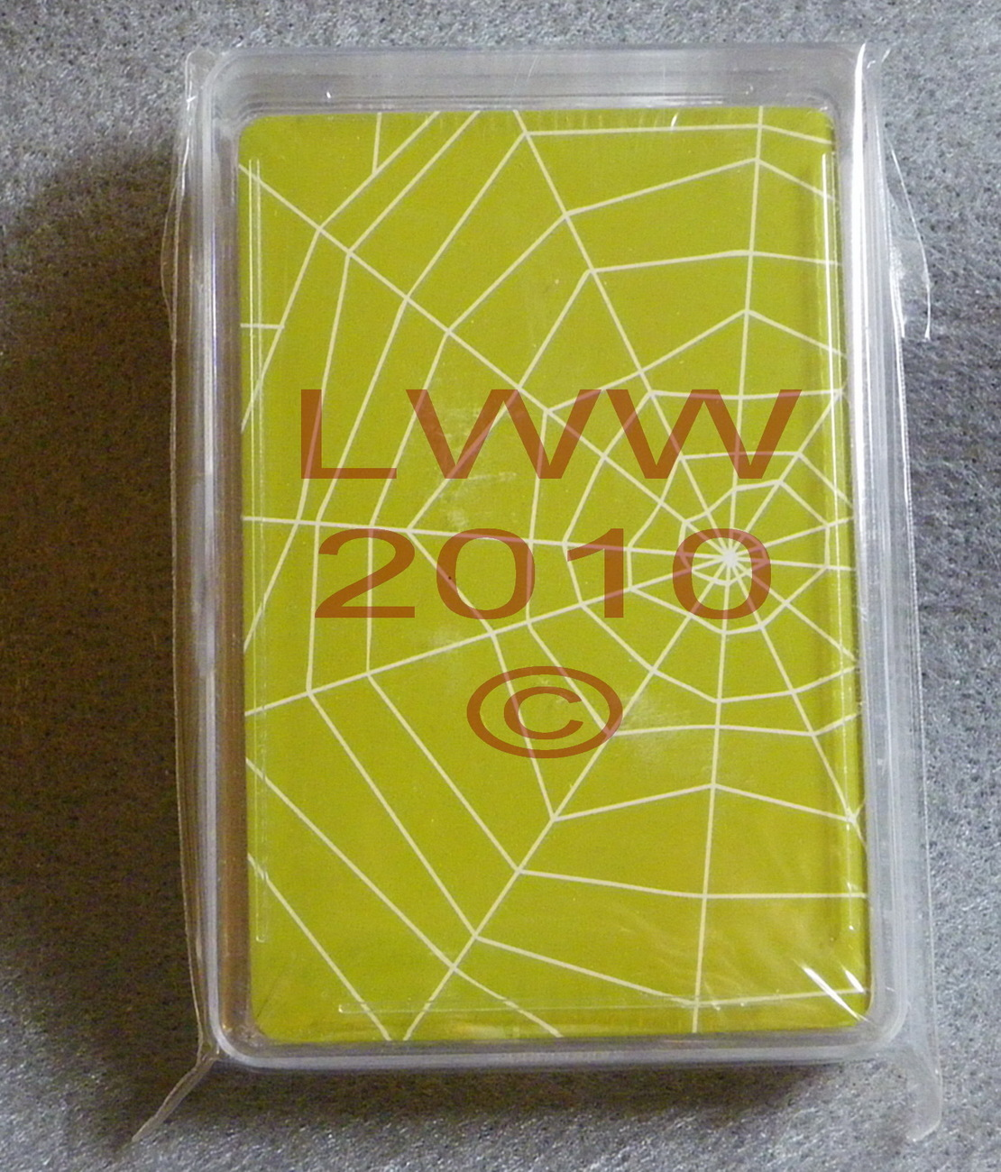 Halloween Spider Web playing cards in case