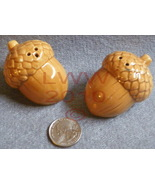 Small Acorn Fall Autumn Salt and Pepper Shakers - $3.99