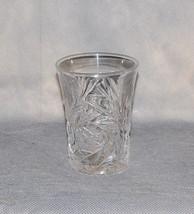 American Brilliant Period Cut Glass Tumbler Star Fan Cross Hatch - $45.00