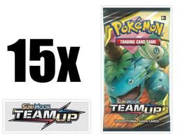 Pokemon Team Up 15 Booster Pack Lot Pokemon TCG Sun & Moon SM9 - $51.99