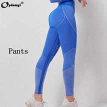 Women's 2 Piece  Sexy High Waist Leggings and Crop Tops Active Yoga Suit image 9