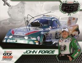 2010 JOHN FORCE CASTROL GTX NHRA POSTCARD SIGNED - $12.95