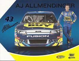 2011 AJ ALLMENDINGER #43 BEST BUY POSTCARD SIGNED - $10.95