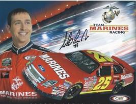 2006 ASHTON LEWIS JR #25 MARINES NASCAR POSTCARD SIGNED - $11.00