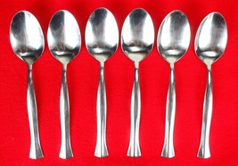 "6X Teaspoons Spoons Oneida Prescott Stainless Glossy Flatware 6 5/8"" Tea... - $23.76"
