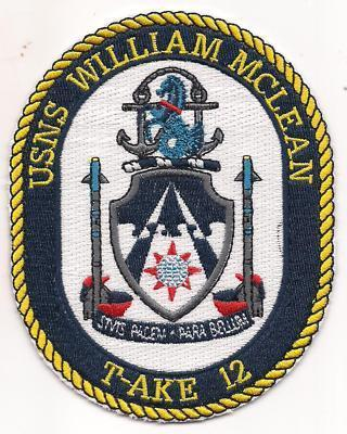 Primary image for US Navy T-AKE-12 USNS William Mclean Patch
