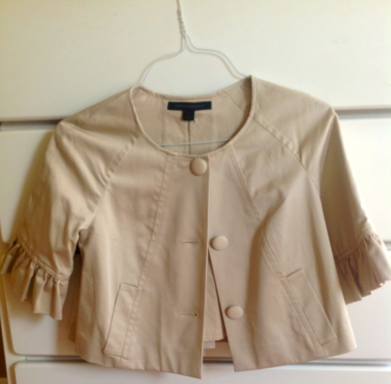Primary image for Express Design Studio short beige jacket size small