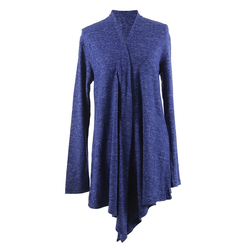 Primary image for Hello Mello Flyaway Open Cut Long Sleeve Cardigan-XL Navy