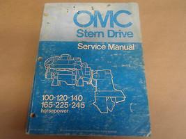 1973 Omc Shop Reparatur Service Manuell 100 120 165 225 245 hp 980249 OE... - $92.39