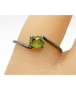 925 Sterling Silver -  Vintage Retro Peridot Solitaire Band Ring Sz 7 - ... - $24.96