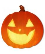 Jack-O-Lantern Smiling Pumpkin Halloween Plasma Metal Sign - $30.00