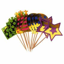 Paper Cupcake Toppers 4 Styles, 5-1/2-Inch, 12-Piece #PS_17019 - $15.44
