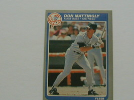 1985 Fleer Don Mattingly #133 Great Investment Potential - $2.96