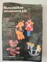 "Lee Wards Crafts Felt Nutcracker ""Jeweled"" Ornaments Kit Set/4 Open Pkg-... - $17.41"