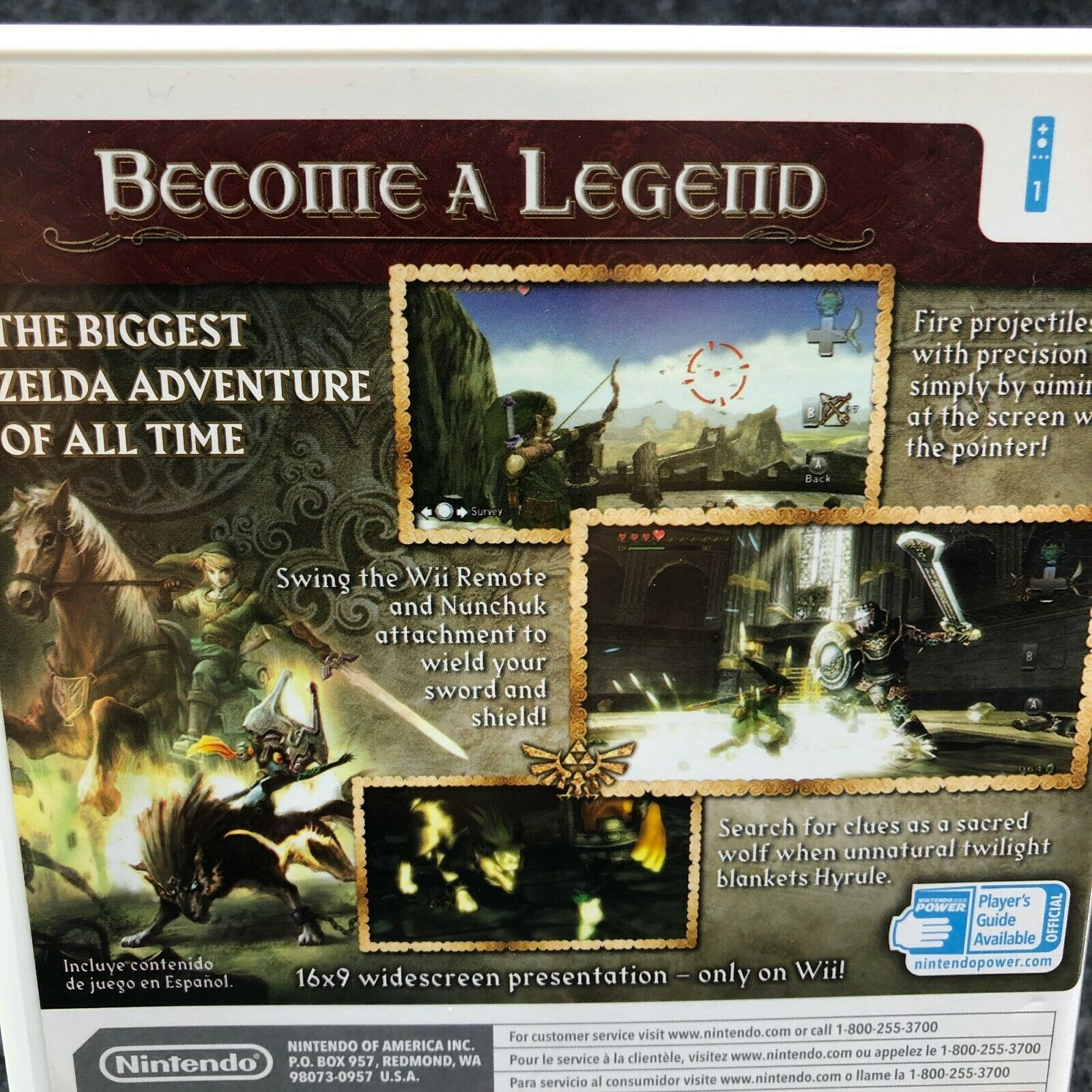 The Legend Of Zelda: Twilight Princess Nintendo Wii, Complete CIB Game image 7