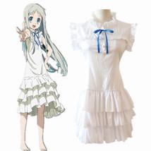Anime AnoHana Honma Meiko Menma white Dress Cosplay Costume - $24.09