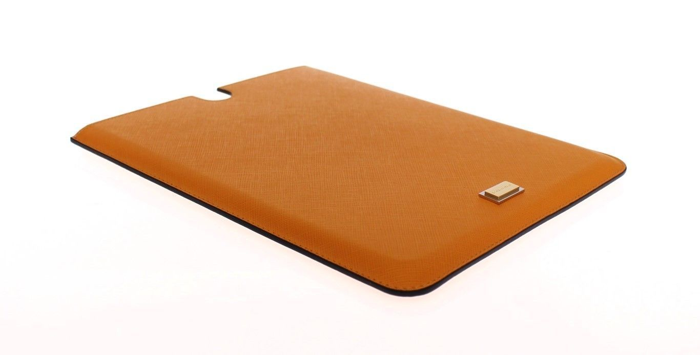 Orange Leather iPAD Tablet eBook Cover