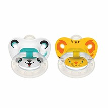 NUK Orthodontic Pacifier Silicone 6-18 Months Animal Faces BPA Free 2 pa... - $8.90