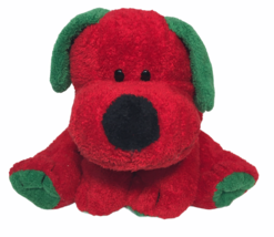 """TY Pluffies Jingles Puppy Dog Holiday Red Green Plush Stuffed Animal Pluffy 8"""" - $24.95"""