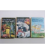 Tom Swift Jr 1954 Pictorial HC 3 books Victor Appleton 4 6 22 Adventure ... - $19.93