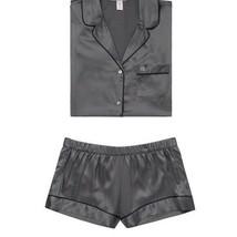 NEW Victoria's Secret The Satin Boxer Pajamas Tornado    - $87.96