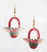 Mid Century Modern Cloisonne Enamel Butterfly E... - $14.95