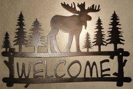 Moose Welcome Sign Metal Wall Art - $48.00+