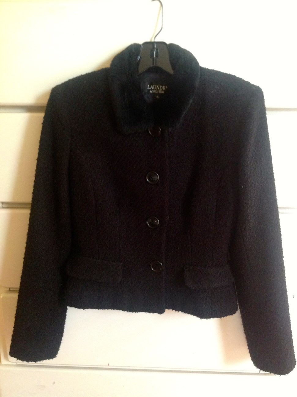 Primary image for Laundry boucle jacket black size 6