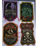 4 Halloween Potion Bottle Labels Wine Or Beer-sized - $3.99