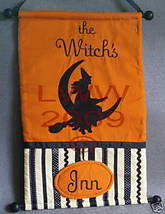 The Witch's Inn/ Out Cloth Wall Hanging Halloween NEW - $16.99