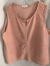 Calvin Klein Peach Sleeveless V Neck Knit Top, Women's Size 3X - $31.34