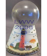 50 mm diameter Clear Crystal Ball with Lighthouse Stand - $13.99