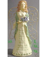 Green Irish Angel Figure Celtic Blessing Prayer - $12.99
