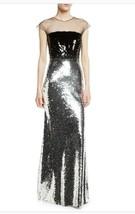 $1800 Sachin + Babi Dija Gown Sequin Illusion Two Tone.  Sz 2 Goegeous! - $395.01
