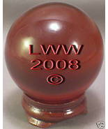 Red Crystal Ball- 50 mm Divination Pagan Wiccan- NEW - $12.49