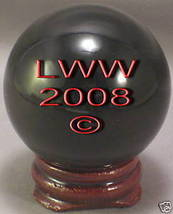 Black Crystal Ball- 50 mm Divination Pagan Wiccan- NEW - $12.49