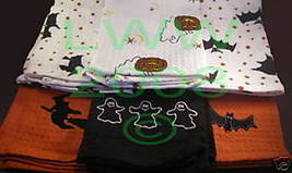 6-pc Halloween Kitchen Towel Set- Witch- Bat- Ghost NEW - $11.99