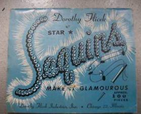 Dorothy Flicek STAR SEQUINS Sewing Accessories - Vtg 30's 40's