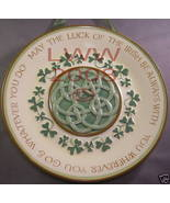 Irish Luck Shamrock Gaelic Celtic Knot Wall Plate New - $11.99