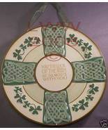Luck Shamrock Gaelic Irish Celtic Knot Wall Plate New - $11.99