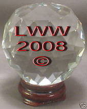 Multi-faceted Crystal Ball 50 mm Divination Pagan Wicca - $11.49