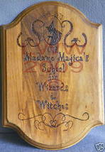 School for Wizards & Witches Halloween Sign Handmade - $10.99