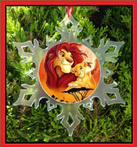 Lion King Christmas Ornament - X-MAS Snowflake - Broadway - Musical - $12.95