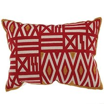 A&B Home T34343 Embroidered Throw Pillow, Feather Fill, 14 by 20-Inch - $49.29