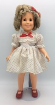 Vintage Ideal Shirley Temple Doll 1972 Red Polka Dot Dress Stand Up Chee... - $19.95