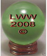 Green Crystal Ball- 50 mm Divination Pagan Wiccan- NEW - $10.49