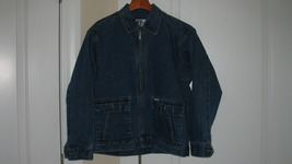 Womens Jean Jacket Arizona Size Large 14/16 100% Cotton - $24.99