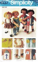 Vintage 1970 SET of RAG DOLLS Pattern 9137-s  - UNCUT - $10.00