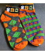 2 prs Ladies ankle-high Halloween jack-o-lanter... - $5.99